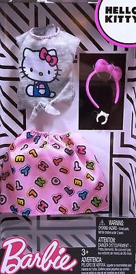 Barbie Fashionistas HELLO KITTY CLOTHING OUTFIT GRAY BLOUSE ALPHABET SKIRT NEW