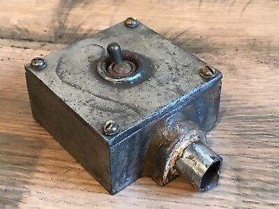 Steel GEC Industrial Light Switch 01666 Salvaged From a Local Factory Salvage
