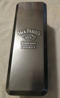 JACK DANIELS Old No7 Whiskey Collector Hinged Metal Tin Can Box