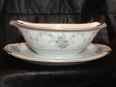 Fleurette by EMPRESS Gravy Boat With Attached Plate