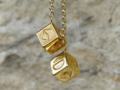 Han Solo's lucky gold dice from the latest Star Wars movie