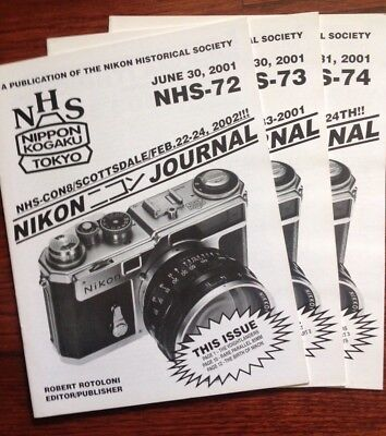 Trio of Nikon Historical Society Journals: The Name is Nikon!