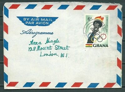 Ghana 1960 Airletter Aerogramme Kumasi To London, Olympic Games Stamp-Cag 220218