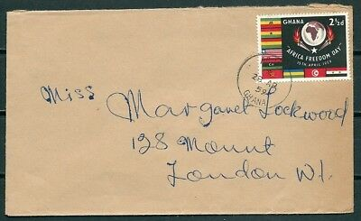Ghana 1959 Cover, Accra To London, Nice Stamp -Cag 220218