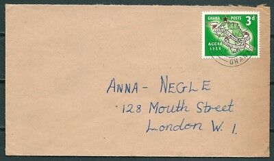 Ghana 1958 Cover, Fanti Newtown To London, Nice Stamp -Cag 220218