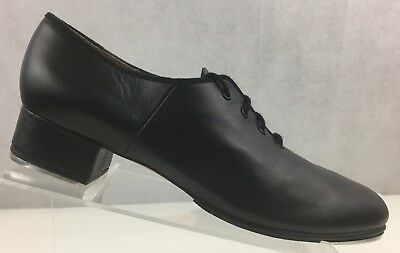 Bloch Lace Up Tap Shoes Black Leather Techno Tap Woman's Size 12