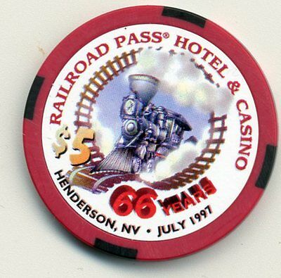 Railroad Pass 66 Years  Henderson   $5  Limited Edition Casino Chip