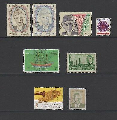 Middle East - 8 used stamps - (Lot 160)