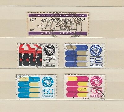Mexico - 5 used stamps - ( Lot 162 )