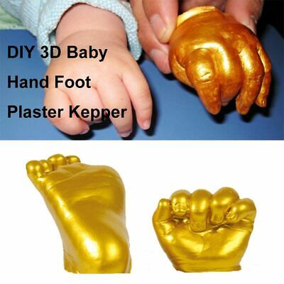Prints Kit 3D Plaster Handprint Footprint Cast Mould Hand Foot Casting Kit