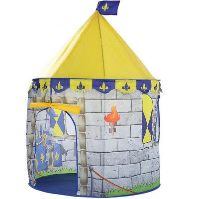 Kids Playhouse Play tent Pop Up Castle Princess Indoor Outdoor Girls Boys Gift