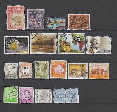 Europe  - 19 used stamps - ( Lot 175 )