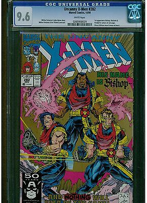 Uncanny X Men #282 Cgc 9.6 Near Mint + 2Nd Printing 1St Bishop App. White Pages