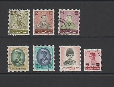 Thailand - 7 used stamps - ( Lot 181 )