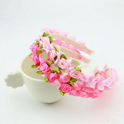 1X Girl Hair Flower Hairband kids party Decor Hairwear for Baby Birthday MD