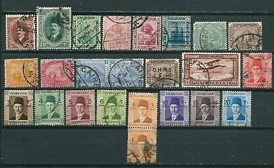 Egypt Nice Lot Of Many Old Stamps -Cag 161217