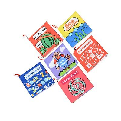 Coolplay Baby/'s First Non-Toxic Fabric Book 6X Washable Soft Cloth Book Toy F6P1