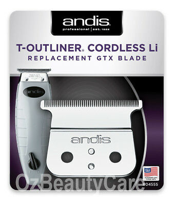 Andis Replacement Deep Tooth GTX TBlade For Cordless T-Outliner Li Trimmer 04555