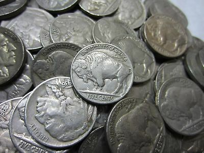 (20) Full Date Buffalo Nickel Lot ~ Mixed Dates ~ 20 Coins