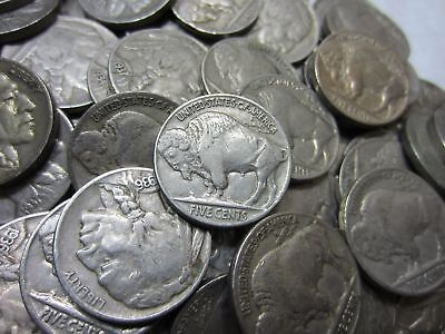 (40) Full Date Buffalo Nickel Roll ~ Mixed Dates ~ 40 Coins