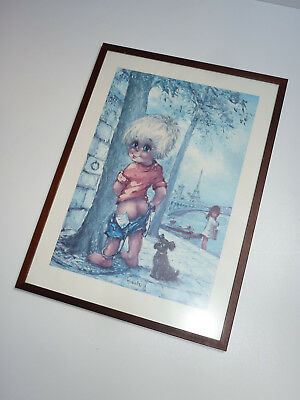 MICHEL T. Thomas BILD KUNSTDRUCK big eyes art print JUNGE PINKELT 70s 70er