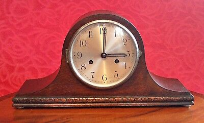 Vintage English 'Coronet' 8-Day Striking Mantel Clock