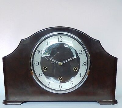 Smiths Enfield English Art Deco Bakerlite Westminster Chiming Mantel Clock 2813