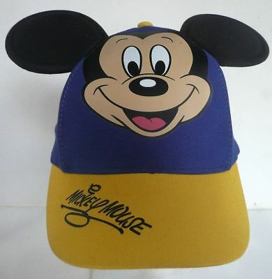 Wdw Walt Disney Authentic Mickey Mouse With Ears Blue Child Youth Hat Adjusts