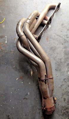 """Dynatech Header Sbc Chevy 1.625/1.75""""Left Side With Merge Colletor 3-1/2"""" Outlet"""