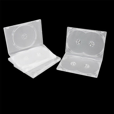 2PCS Standard Clear 3/4 Disc Holds DVD CD Case Movie Box Storage Holder Cover TS