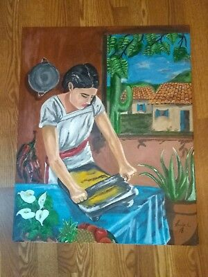 original acrylic Mexican hand painting