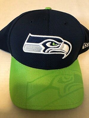 NEW ERA 39THIRTY NFL Seattle Seahawks Hat Fitted Cap Size M L ... 6e42e57df