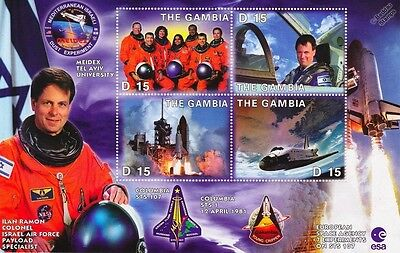 ILAN RAMON (Israel): NASA STS-107 Space Shuttle COLUMBIA Astronaut Stamp Sheet