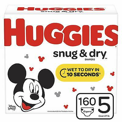 Huggies Snug & Dry Diapers Size 5 (Choose Your Count) **FREE SHIPPING**