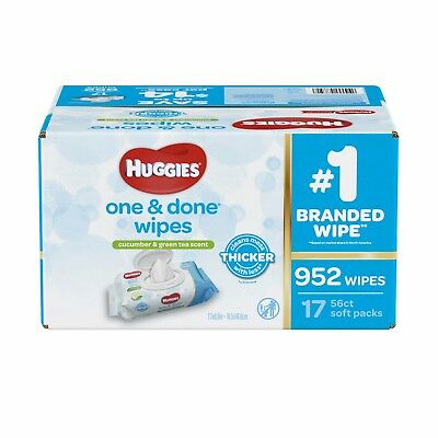 Wipes - Huggies One & Done Baby Wipes, Scented (Choose Your Count)