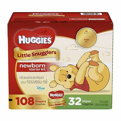 Huggies Little Snugglers Diapers Size Newborn (Select Count) **FREE SHIPPING**