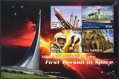 YURI GAGARIN Ship/John Glenn/VOSTOK Rocket/First Man in Space Stamp Sheet