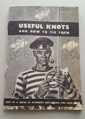 VTG 1946~USEFUL KNOTS and HOW TO TIE THEM~Plymouth Data Books for Rope Users