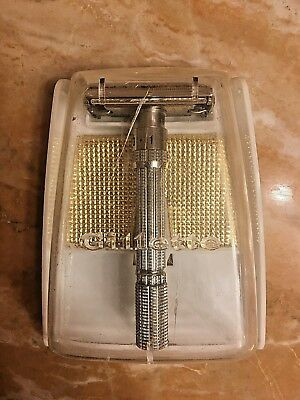 Gillette Fatboy Slim Adjustable Double Edge Safety Razor H1 !!MINT CONDITION!!