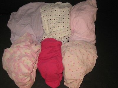 Baby Girls Fitted Crib Sheets Lot