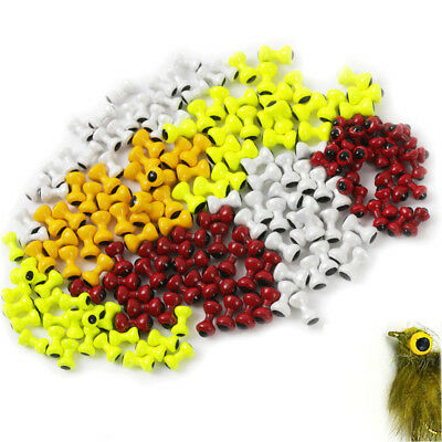 25Pcs Painted Lead Eyes Fly Tying Beads Dumbbell Eyes Fly Tying Materials