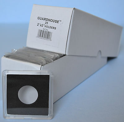 25 - GUARDHOUSE 2x2 TETRA PLASTIC SNAPLOCK COIN HOLDER for NICKELS