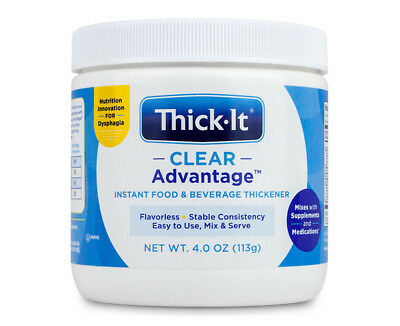 Thick-It Clear Advantage Instant Food & Beverage Thickener 4 oz (113 g) Jar New