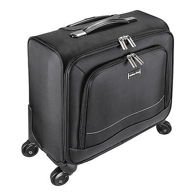 "16"" Luggage Suitcase Laptop Trolley Bag 4Wheels Travel Carry On Business Bag"