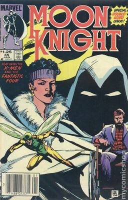 Moon Knight (1st Series) Canadian Price Variant #35 1984 VF- 7.5 Stock Image