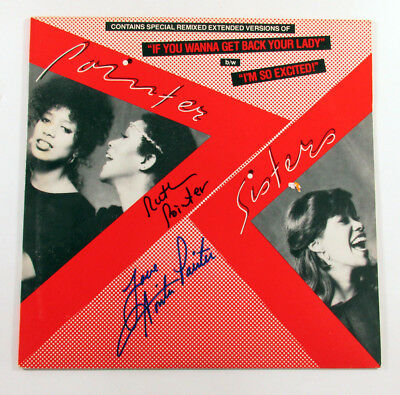 Anita & Ruth Pointer Signed Album The Pointer Sisters I'm So Excited 2 AUTO