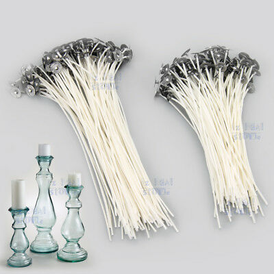 up to 500 Candle Wicks Low Smoke Pre Waxed Wick with Tabs Sustainers Cotton Core