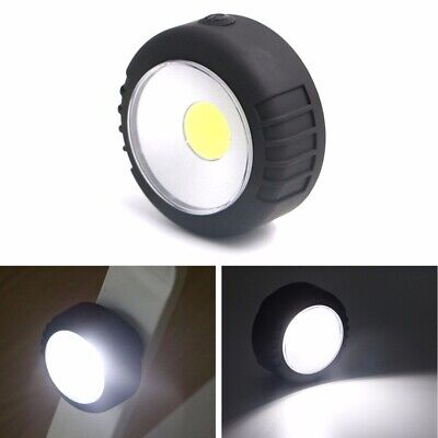 Portable Mini COB LED Round Work Light Magnetic Ultra Bright Lamp Outdoor