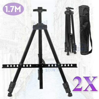 2 Tripod Easel Display Stand Drawing Board Art Artist Sketch Painting Adjustable
