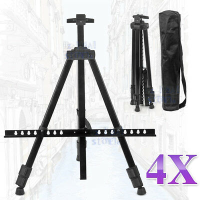 4 Tripod Easel Display Stand Drawing Board Art Artist Sketch Painting Adjustable